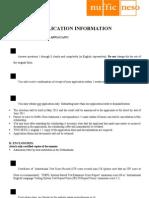 StuNed Form (Short Course - Deadline 1 Mar 11)