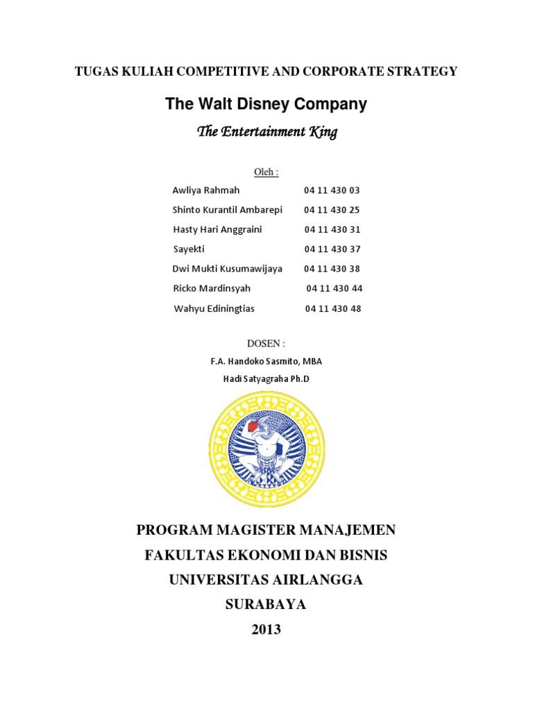 perusahaan walt disney strategi diversifikasi pada 2020 pertanyaan
