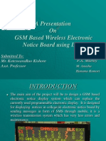 GSM Based Wireless Electronic Notice Board