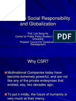 Corporate Social Responsibility and Globalization