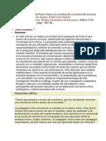 Perspectiva crítica de Paulo Freire y su contribución a la teoría del currículo