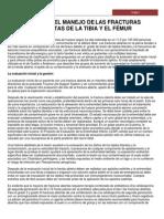 6 REVISIÓN DEL MANEJO DE LAS FRACTURAS EXPUESTAS DE LA TIBIA Y EL FÉMUR
