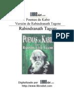 Rabindranath Tagore - Poemas de Kabir (Nobel 1913, India)