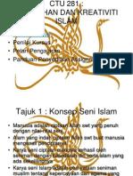 CTU 281 KULIAH 1 Konsep Kesenian Islam - Copy