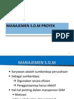 Manajemen PSI 09 Perencanaan SDM 2009