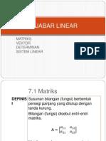 Aljabar Linear