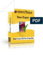 OpenOffice Base Repair Software
