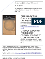 Litereacy education for the 21st century