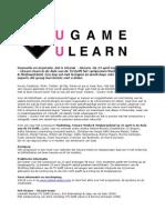 Uitnodiging UGame - ULearn Symposium
