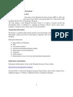 Logistical Information for Participants