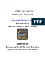 Removing the REAL Inner Barriers to Your Success With Tom Stone [Episode 38] Wired for Success