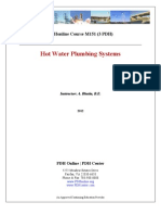 Hot water plumbing system