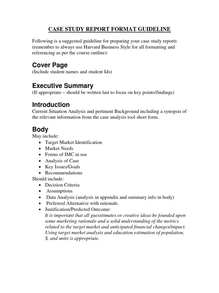 Case study report format guideline 1 literature review citation accmission Image collections