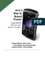 Visionary Marketing Team BlackBerry Case Study