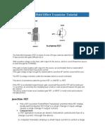 Junction Field Effect Transistor Tutorial