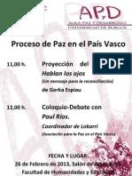 Cartel Charla en Burgos 26-2-2013