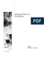 STAAD Pro Advanced Training Manual