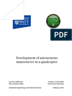 Development of autonomous manoeuvres in a quadcopter