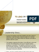 To Lead or to Manage