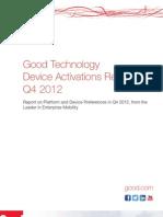 Good Q4 Device Activations