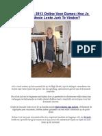 Lente Jurken 2013 Online Voor Dames Hoe Je Een Mooie Lente Jurk Te Vinden