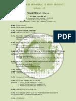 Programação -  II Conferencia Municipal de Meio Ambiente