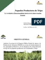 EMAPA y los pequeños productores de Trigo