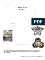 Holy Father Prayers Envelope
