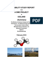 A DME Feasibility Study in Iceland Summary Report