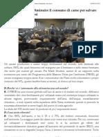 Diminuire Il Consumo Di Carne Per Salvare l'Ambiente e Noi Stessi