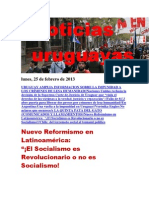 Noticias Uruguayas Lunes 25 de Febrero Del 2013