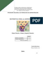 Contenidos Matematicas Para La Administracion