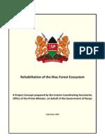 Mau Forest Complex Concept Paper