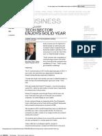 Telegraph Journal - Business - Technology __ Tech Sector Enjoys Solid Year