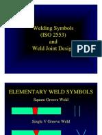 Weld Design Symbols