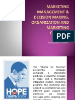 Marketing management & decision making, organization and Marketing Concepts
