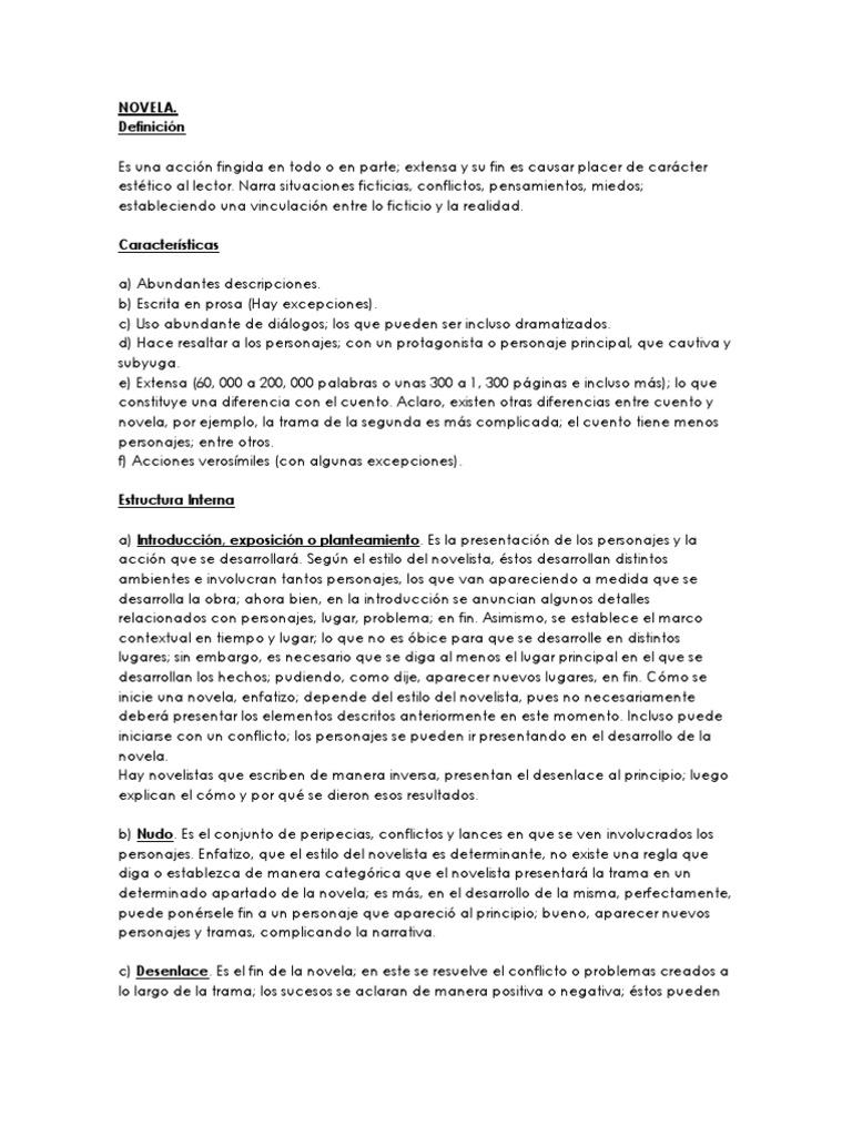 Novela Y Fabula
