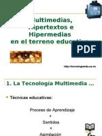 Multimedios e Hipermedios en Educación