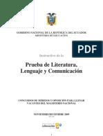 Instructivo Literatura Lenguaje Comunicacion