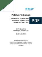 Pedoman Pelaksanaan Usbn Pai 2012
