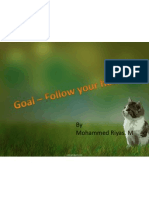 Goals - Follow Ur Hearts