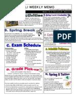 2013 Spring 1 Week 7&8 - Weekly Memo