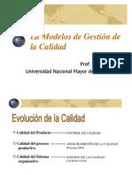 Los modelos de la Gestión de la Calidad - Ventura, J.