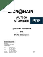 AU7000 Sprayer Manual