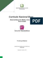 CNB  Tercero Básico_Matemáticas_09 -11-2010