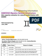 Day2 Abis Capacity Evaluation for Network Modernization With GEMINI