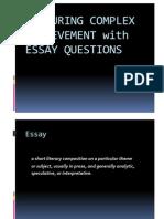 CONSTRUCTING ESSAY QUESTIONS