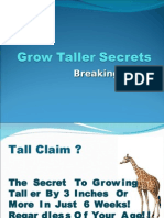 How to Get Taller - Grow Taller Secrets