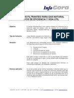 Reporte Aplicacion Gas Natural Filtros Gora
