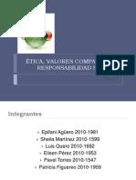 ÉTICA, VALORES COMPARTIDO Y RESPONSABILIDAD SOCIAL
